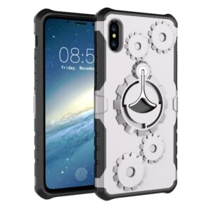 Apple iPhone X/XS 2 i 1 Hybrid Cover m. Sportsarmbånd – Sølv