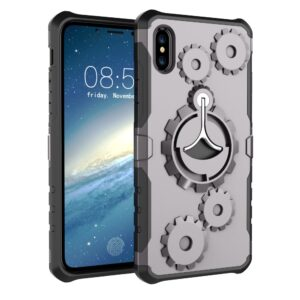 Apple iPhone X/XS 2 i 1 Hybrid Cover m. Sportsarmbånd – Grå