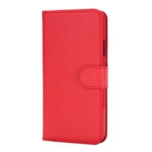 Apple iPhone X/XS Flipcover i Texture PU Læder m. Kortholder – Rød