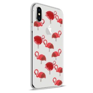 Apple iPhone X Design TPU Cover – Flamingo 1