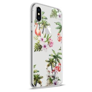 Apple iPhone X Design TPU Cover – Flamingo 2