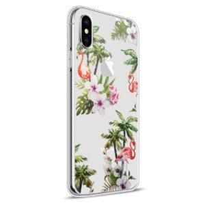 Apple iPhone X Design TPU Cover – Flamingo 2
