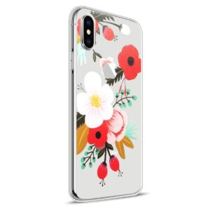 Apple iPhone X Design TPU Cover – Blomst 3