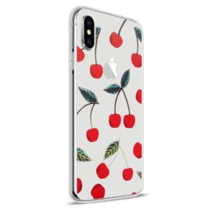 Apple iPhone X Design TPU Cover – Kirsebær