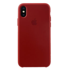 Apple iPhone X/XS Solid Silikone Cover – Rød