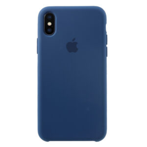 Apple iPhone X/XS Solid Silikone Cover – Blå