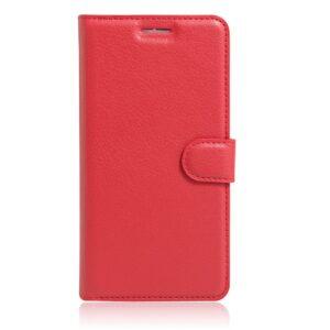 Apple iPhone 7/8 Litchi FlipCover m. Kortholder – Rød