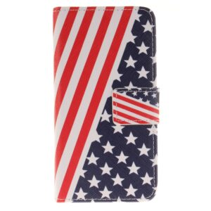 Apple iPhone 7/8 PU læder FlipCover m. Kortholder – Stars and Stripes