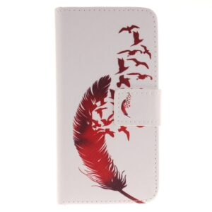 Apple iPhone 7/8 PU læder FlipCover m. Kortholder – Feather Birds