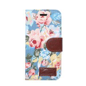 Apple iPhone 7/8 Blomstret FlipCover m. Stand – Blå