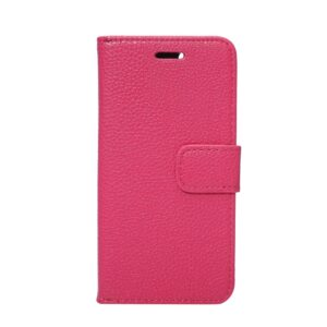 Apple iPhone 7 Litchi Flip Cover Med Pung – Rosa
