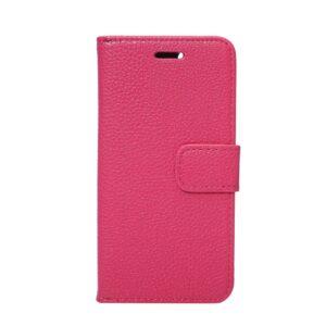Apple iPhone 7 Litchi Flip Cover Med Pung – Rosa
