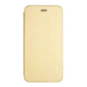 Apple iPhone 7 LENUO læder FlipCover – Guld