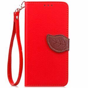 Apple iPhone 7/8 PU læder FlipCover m. Bladlukning – Rød/brun