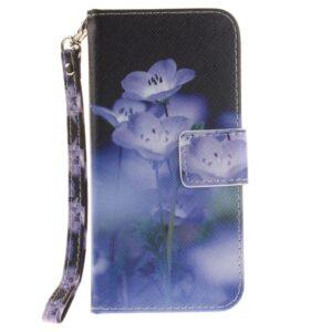 Apple iPhone 7/8 PU læder FlipCover m. Stand – Blå blomster