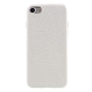 Apple iPhone 7/8 PU læder Cover – Hvid krokodille