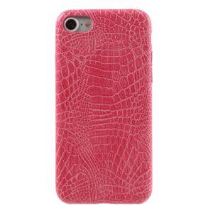Apple iPhone 7/8 PU læder Cover – Pink krokodille