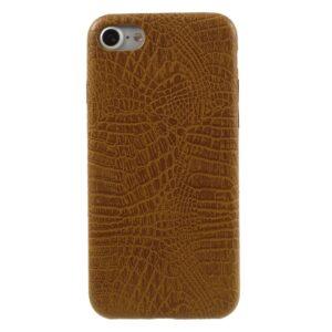Apple iPhone 7/8 PU læder Cover – Brun krokodille