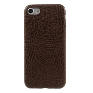 Apple iPhone 7/8 PU læder Cover – Coffee krokodille