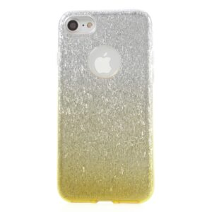 Apple iPhone 7/8 TPU Cover – Guld/sølv glimmer