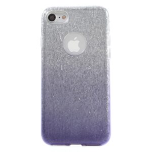 Apple iPhone 7/8 TPU Cover – Lilla/sølv glimmer