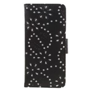 Apple iPhone 7 PU læder FlipCover m. Kortholder – Sort m. Sten