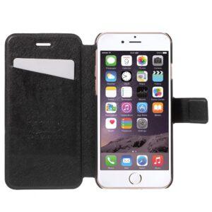 Apple iPhone 7 Stof FlipCover m. Kortholder – Sort