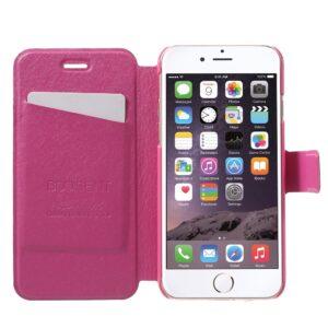 Apple iPhone 7 Stof FlipCover m. Kortholder – Pink