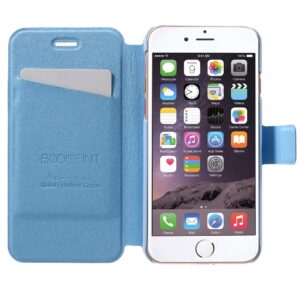Apple iPhone 7 Stof FlipCover m. Kortholder – Baby blå