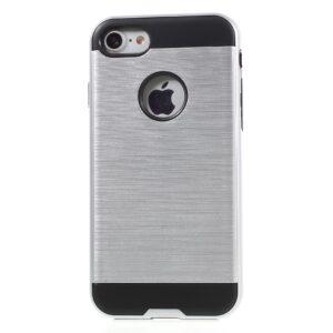Apple iPhone 7 Børstet TPU Cover – Sølv