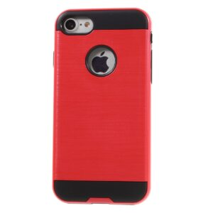 Apple iPhone 7 Børstet TPU Cover – Rød
