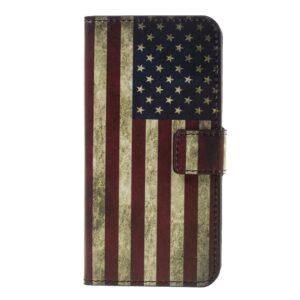 Apple iPhone 7 PU læder FlipCover m. Stand og Kortholder – American Flag