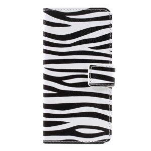 Apple iPhone 7 PU læder FlipCover m. Stand og Kortholder – Zebra Pattern