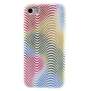 Apple iPhone 7/8 Læder beklædt Plastik Cover m. Bølger – Multi