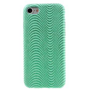Apple iPhone 7/8 Læder beklædt Plastik Cover m. Bølger – Grøn