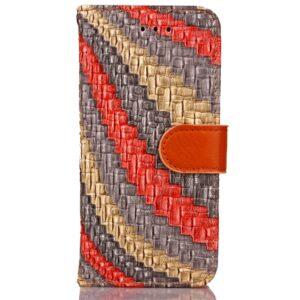 Apple iPhone 7/8 PU læder FlipCover m. Snoet Mønster – Rosa
