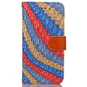 Apple iPhone 7/8 PU læder FlipCover m. Snoet Mønster – Mørk blå
