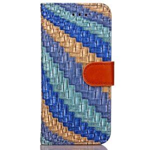 Apple iPhone 7/8 PU læder FlipCover m. Snoet Mønster – Blå