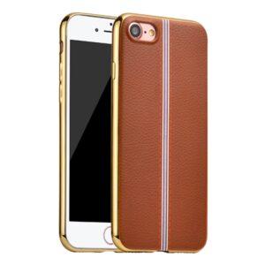 Apple iPhone 7 HOCO Premium TUP/læder Cover – Brun