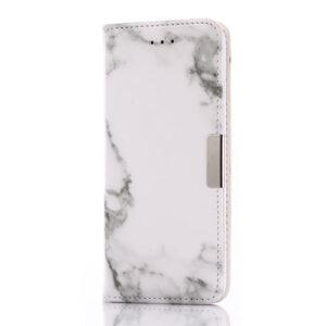 Apple iPhone 7/8 PU Læder FlipCover m. Stand – Grå Marmor
