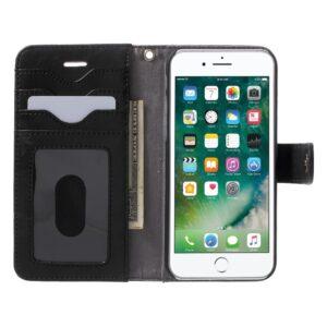 Apple iPhone 7/8 2 i 1 Deluxe Flip Cover Med Pung – Sort