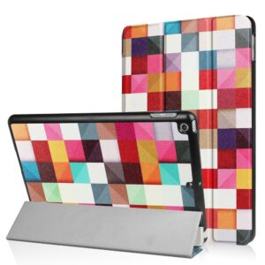 Apple iPad 9.7 2017/2018 Smart Cover m. Stand – Colorful Cheakers