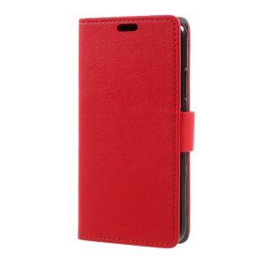 Apple iPhone X/XS Deluxe Flipcover m. Kortholder – Rød