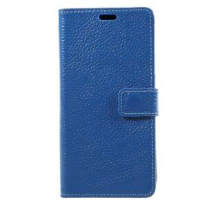 Apple iPhone X/XS Flipcover i Ægte Læder m. Kortholder – Blå