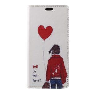 Apple iPhone X/XS PU læder Flipcover m. Kortholder – Pige med Ballon