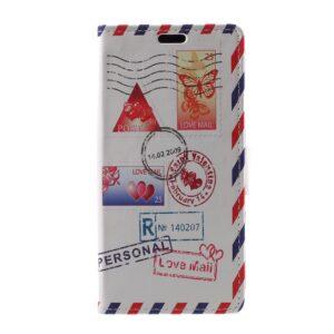Apple iPhone X/XS PU læder Flipcover m. Kortholder – Kærlighedsbrev