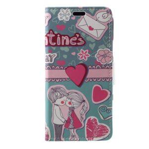 Apple iPhone X/XS PU læder Flipcover m. Kortholder – Kærlighed