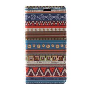 Apple iPhone X/XS PU læder Flipcover m. Kortholder – Mønster 1