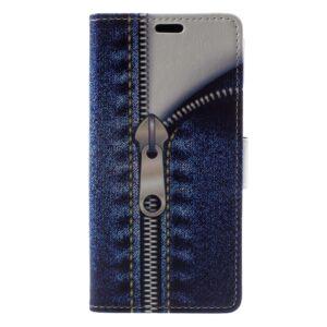 Apple iPhone X/XS PU læder Flipcover m. Kortholder – Lynlås