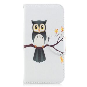 Apple iPhone X/XS PU læder Flipcover m. Kortholder – Sød Ugle